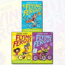 Flying Fergus Series Collection Chris Hoy 3 Books Set Big Biscuit Bike Off NEW