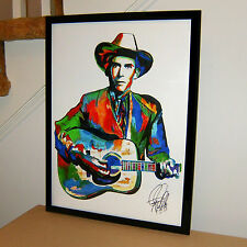 Hank Williams, Vocals, Guitar, Country, Western, Honky-Tonk, 18x24 POSTER w/COA