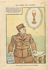 Caricature anti-Nazis Berlin Taxe Denier du Culte  Religion Catholique 1936