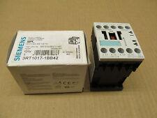 1 NIB SIEMENS 3RT1017-1BB42 3RT10171BB42 CONTACTOR 24V DC, AC-3: 5,5KW/400V 1NC