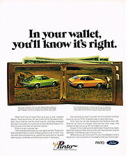 Vintage 1971 Magazine Ad Ford Pinto Is a Do It Yourself Car A Satisfied Feeling