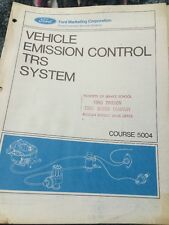 1971 Ford Vehicle Emission Control Manual Trs System Course 5004