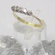 18k Oro y Platino Diamante Natural Media Eternidad ~ 0.2ct +