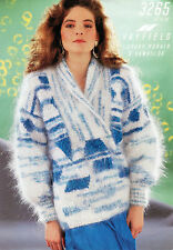 ~  Knitting Pattern For Lady's Shawl Collar Mohair Sweater To Knit ~