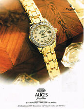 PUBLICITE ADVERTISING 035  1995   AUGIS   joailliers montre ROLEX LADY-DATEJUST