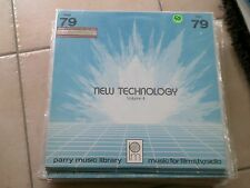 NEW TECHNOLOGY VOL. 4* PARRY LIBRARY LP ELECTRONIC THEMES & MOODS FOR SCIENTIFIC