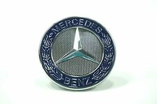 MERCEDES-BENZ BLUE HOOD LOGO CENTER CAP EMBLEM BADGE 'USA SELLER'