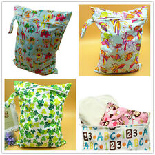 Waterproof Reusable Zipper Baby Cloth Diaper Nappy Wet Dry Bag Swimwear Tote HOT