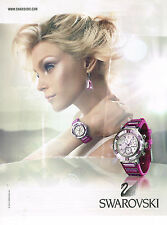 PUBLICITE ADVERTISING 094  2012   SWAROVSKI collection montres