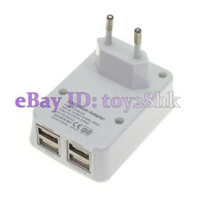 EU Europe Plug 4 Port USB Travel Wall Charger For Smart Phone Tablet Camera MP3