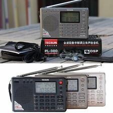 TECSUN PL380 DSP PLL FM MW SW LW Stereo Digital Radio World Band Receiver Set