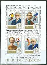 SOLOMON ISLANDS  2013  150th BIRTH PIERRE de COUBERTIN OLYMPIC  SHEET  MINT NH