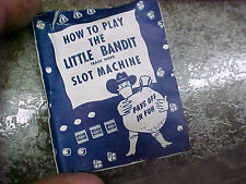 One Hand Bandit  little  Slot Machine how to play manual vintage