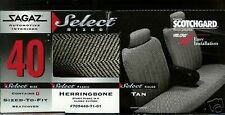 NEW BUICK LESABRE CAR SEAT COVERS SPLIT BACK FULL BENCH HERRINGBONE TAN