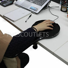 Upgraded Ergonomic Desk &Chair Armrest Attachable Computer Arm Support Mouse Pad