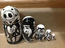 Russian Nesting Dolls Nightmare Before Christmas! 5 pcs