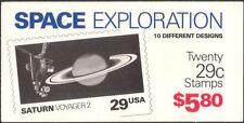 USA 1991 Space Exploration/Earth/Moon/Jupiter/Pluto/Mars/Planets 20v Bklt (b517)
