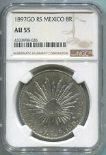 1897GO RS Mexico Silver 8 Reales, NGC AU55