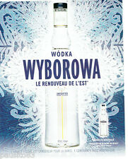 PUBLICITE ADVERTISING 056  2004   Wodka Wyborowa    nouvelle bouteille