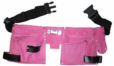 Leather Tool Belt / Storage Pouch PINK LADIES Tool Bag  / Roll Mat Holder TB015