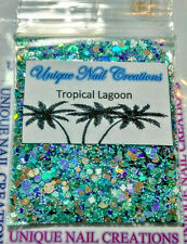 Limited Edition Glitter Mix~TROPICAL LAGOON* Comes With Alloy~ Nail Art