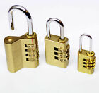 Resettable Brass Combination Padlock Luggage Toolbox Cupboard Bag Locker Gym