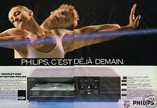 Publicité advertising 1986 (2 pages) Chaine Hi-Fi lecteur compact Philips