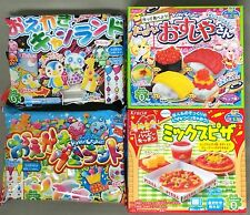 4 PCS Kracie DIY making kit Happy Kitchen popin cookin Japanese candy Japan food