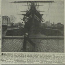 Captain Simon Waite Cutty Sark New Master Of Ship 1990 Newspaper Article 6086