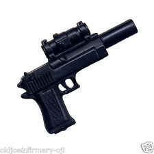 "M&C Toys Weapon Black HK Silenced Handgun & Scope for 12"" Figures 1:6 (g55)"
