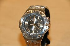 Seiko Kinetic 100M 5M62-0AH0 Stainless Steel Wristwatch * AS IS * NO RESERVE!F
