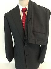 Brooks Brothers Vintage Charcoal Gray Tight Pinstripe Suit 40R
