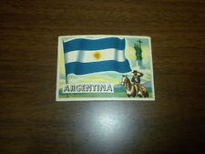 FLAGS OF THE WORLDS #21 ARGENTINA Topps card 1956 U.S.A. Printing NICE ONE!
