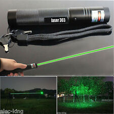 ✓ Powerful 303 Green Laser Pointer Pen Adjustable Focus 532nm Lazer Burning Beam