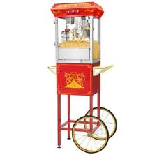 Popcorn Machine Maker Red 8 oz. Popper with Pop Corn Cart Free Shipping