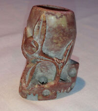 "Carved Chinese Soapstone Decorative Vessel 3"" x 2"""