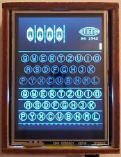 Arduino Enigma Machine Simulator:I,M3,M4,Uhr and Printer. Laser Cut Case w/ Logo