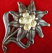 ORIGINAL CURRENT GERMAN ARMY EDELWEISS MOUNTAIN HUNTER BERET BADGE MEDAL     (0)