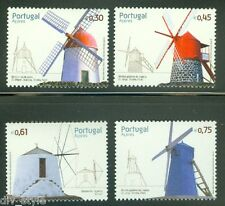Windmills set of 4 mnh stamps Azores (Portugal) 2007