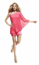 Laundry by Shelli Segal Watermelon Pleated One Shoulder Dress  .NWT Sz. 2