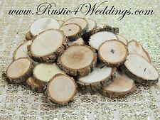 50 qty 1 inch to 1.5 inch wood slices, tree slices, rustic wedding, crafts USA