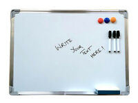 Magnetic dry wipe whiteboard 600 x 450 free accessories office school white