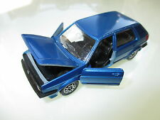 Volkswagen VW Golf Mk II 2 in blau blu bleu blue metallic, Schabak 1:43 DEALER!