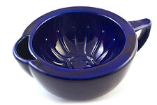Extra Large Indigo Ceramic Shaving Mug Bowl Scuttle, by V.M.