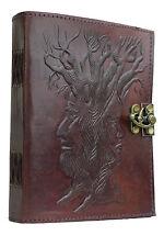 Árbol d la sabiduría Diario Cuero Piel Búfalo Cuaderno Vintage B6 Algodón India