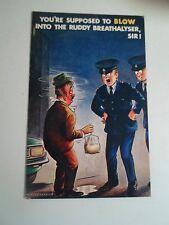 BAMFORTH Vintage Postcard No 2492  - BREATHALYSER HUMOUR Circa Late 1960's