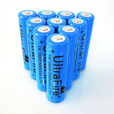 10PCS Ultrafire 5000mAh Efficient 3.7V Rechargeable Li-ion Cell 18650 Battery US