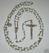 "† VINTAGE ""BLESSED"" SAINT POPE XXIII 1958 VATICAN STERLING ROCK CRYSTAL ROSARY †"