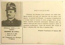 Cartolina Ass. Naz. Alpini Sezione Di Savona - Motivazione Medaglia D'Oro Al