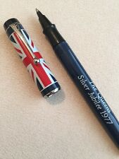 VINTAGE PARKER BIG RED WHITE & BLUE,QUEENS SILVER JUBILEE BALL PEN-MINT
